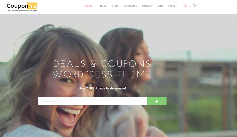 Coupon and Promotional WordPress Theme