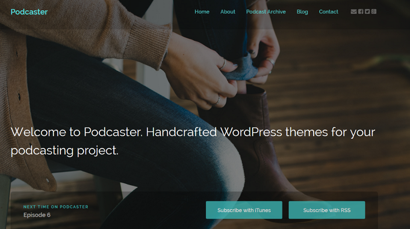 Podcasting WordPress Theme