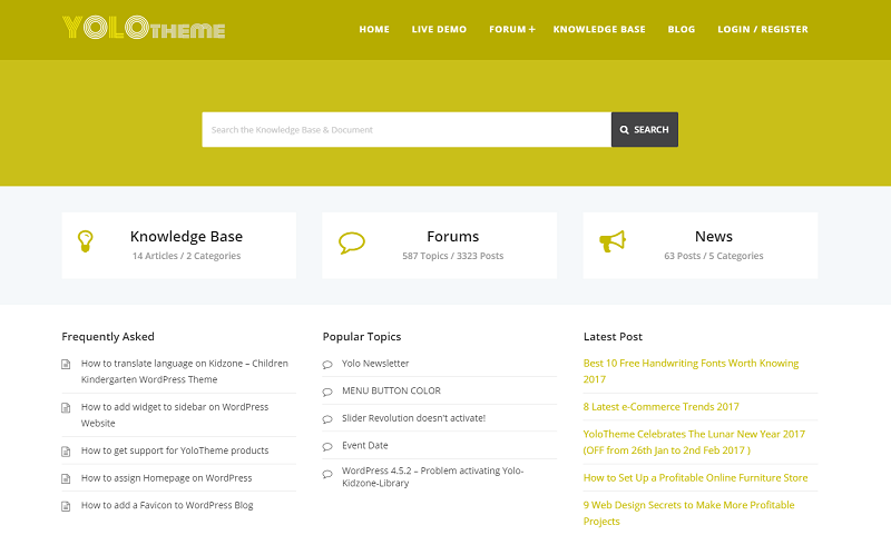 Knowledgebase WordPress Theme