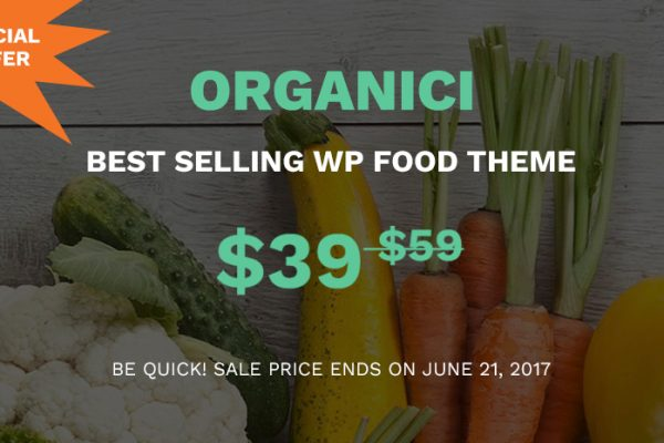Special Gift This Week! Organici – Best Organic Store WooCommerce Theme