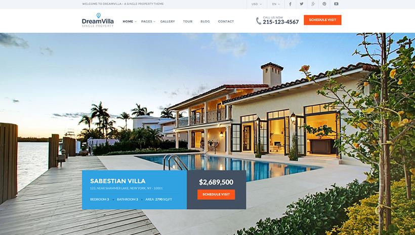 Real Estate WordPress Theme