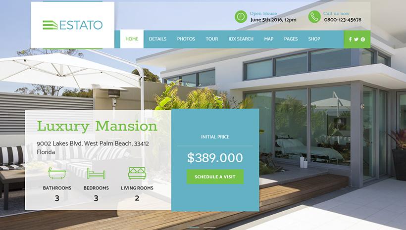 Single Property Real Estate WordPress Theme