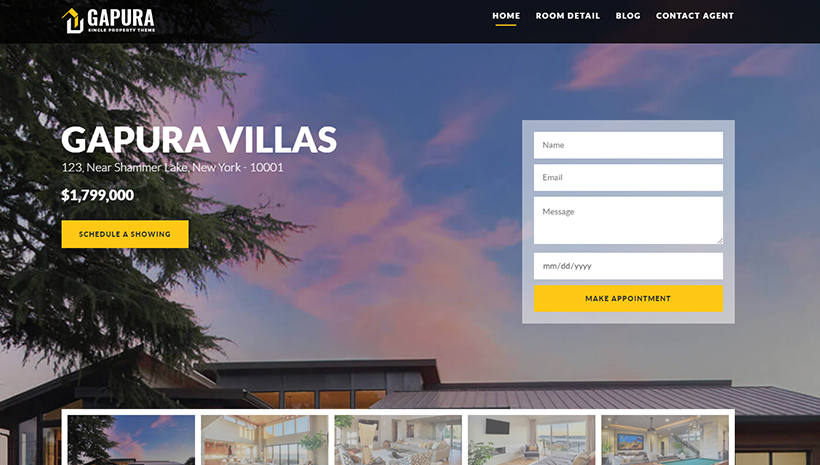 Single Property WordPress Theme