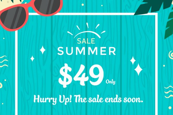 Hello Summer Sale! $49 Only on Every Premium Theme