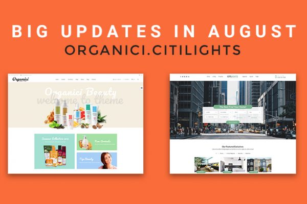 Organici & CitiLights Updates Boost NooTheme Up in Web Development 2018