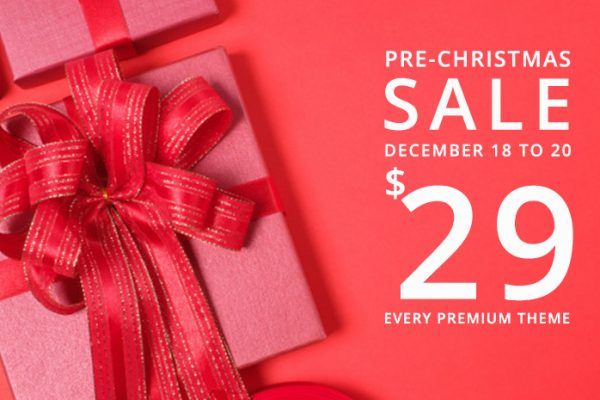 Amazing Xmas Sale! $29 on Every WordPress Themes