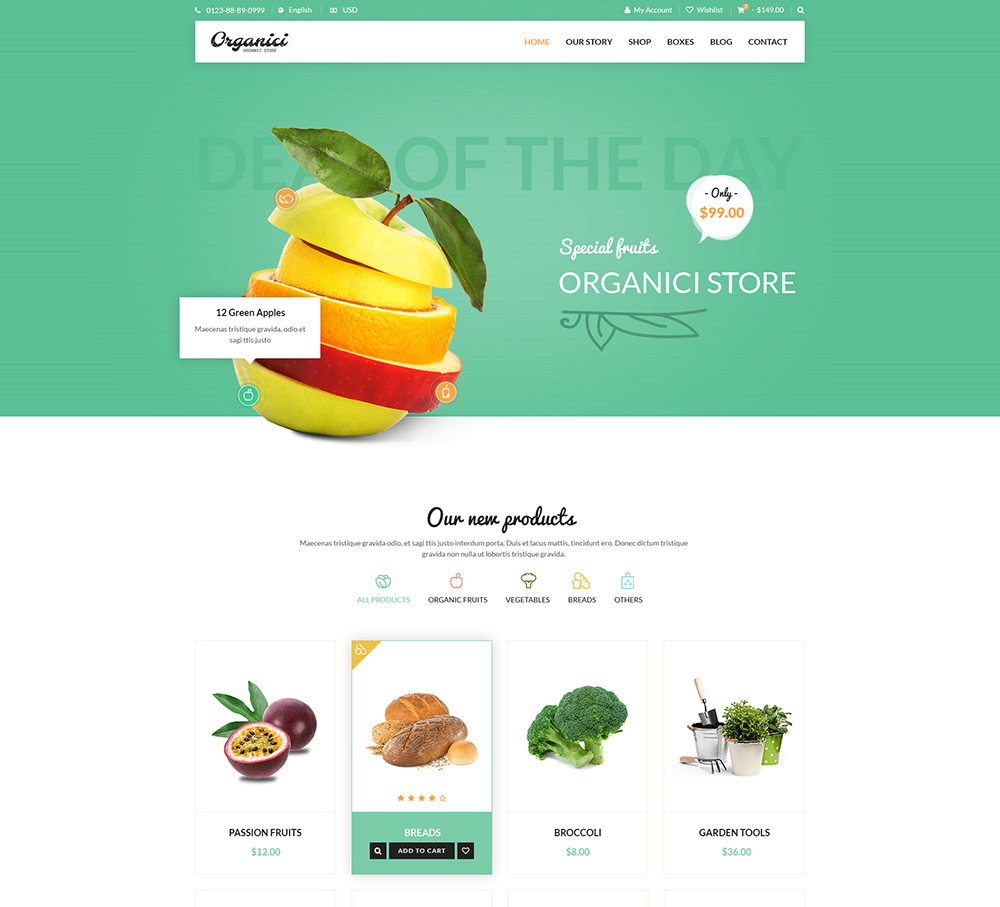 organic wordpress theme