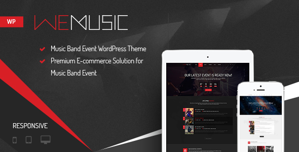 music band event wordpress theme